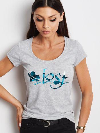 Szary t-shirt Lost