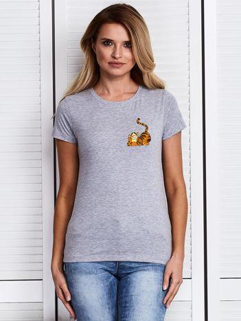 Szary t-shirt WINNIE THE POOH z Tygryskiem