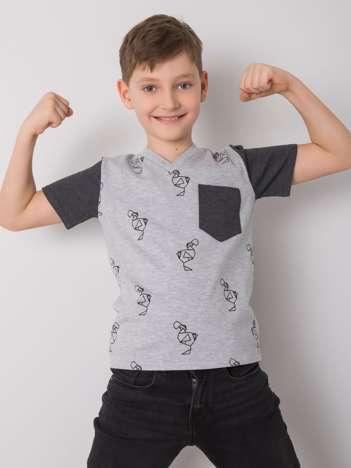 Szary t-shirt dla chłopca DODO KIDS