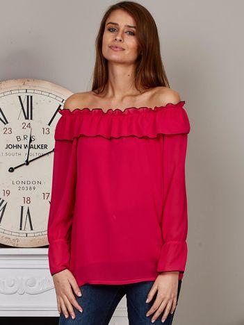 Szyfonowa bluzka hiszpanka malinowa