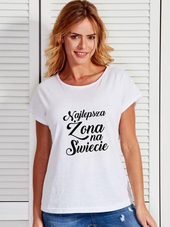 T-shirt biały NAJLEPSZA ŻONA NA ŚWIECIE