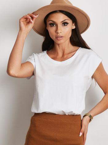 T-shirt biały z aplikacją