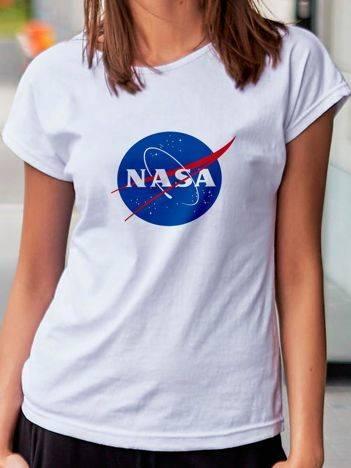 T-shirt damski NASA biały
