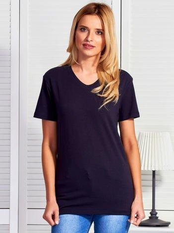T-shirt damski basic granatowy