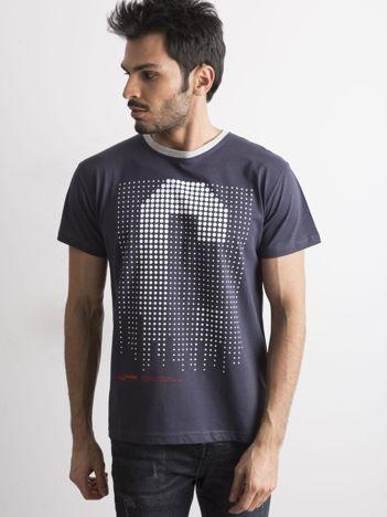 T-shirt dla mężczyzny z nadrukiem granatowy