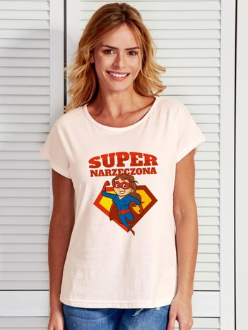 T-shirt ecru SUPER NARZECZONA