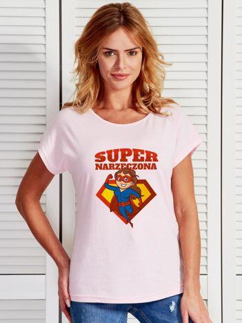 T-shirt jasnoróżowy SUPER NARZECZONA