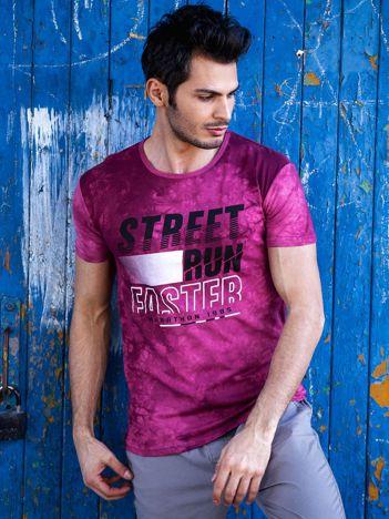 T-shirt męski bordowy Street Run