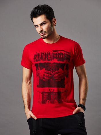 T-shirt męski czerwony New York