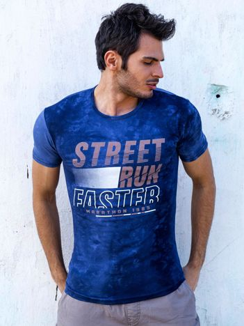 T-shirt męski granatowy Street Run