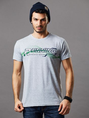 T-shirt męski jasnoszary Running