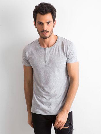 T-shirt męski z bawełny szary