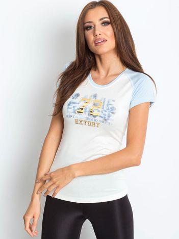 T-shirt z liczbą 72 jasnoniebieski