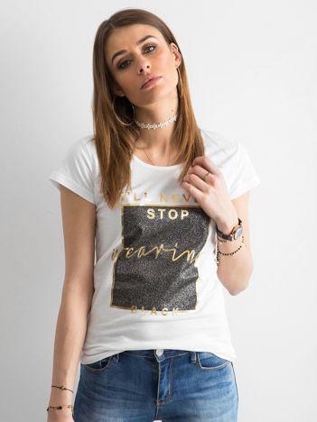 T-shirt z nadrukiem biały