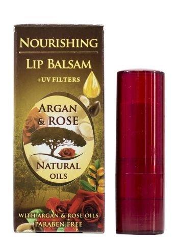 THE ROSE Balsam do ust w sztyfcie z naturalnym olejkiem różanym Argan&Rose 5 ml