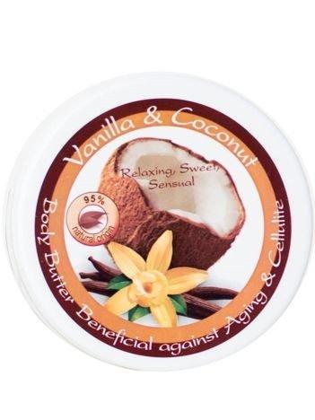 THE ROSE Masło do ciała z wanilią i kokosem naturalne 150 ml