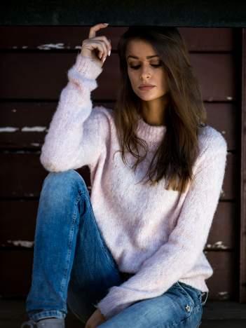 TOM TAILOR Różowy sweter z dodatkiem wełny z alpaki