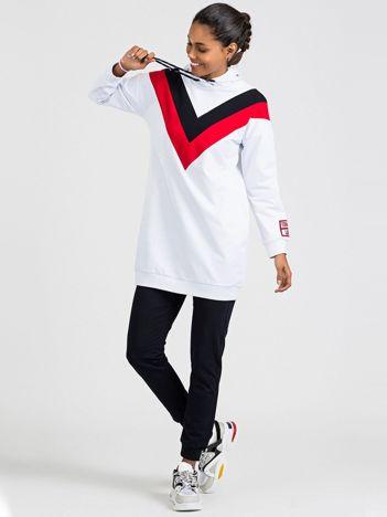 TOMMY LIFE Długa bluza biała