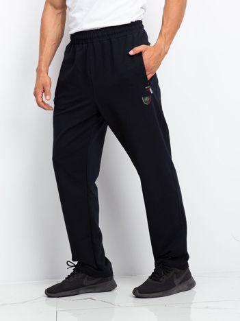 TOMMY LIFE Dresowe męskie spodnie plus size granatowe