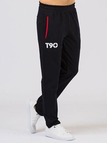 TOMMY LIFE Granatowe długie spodnie męskie