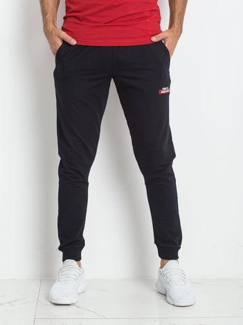 TOMMY LIFE Granatowe męskie spodnie
