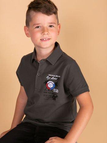 TOMMY LIFE Khaki koszulka polo chłopięca