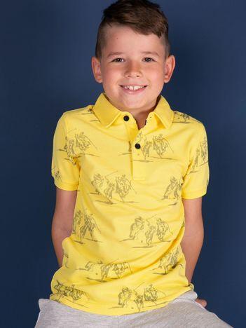 TOMMY LIFE Żółta koszulka polo dla chłopca