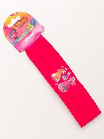 TROLLE Rózowa elastyczna opaska do włosów