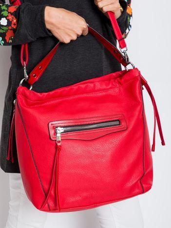 Torba city bag z ekoskóry czerwona