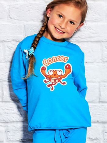 Turkusowa bluza dziecięca znak zodiaku RAK