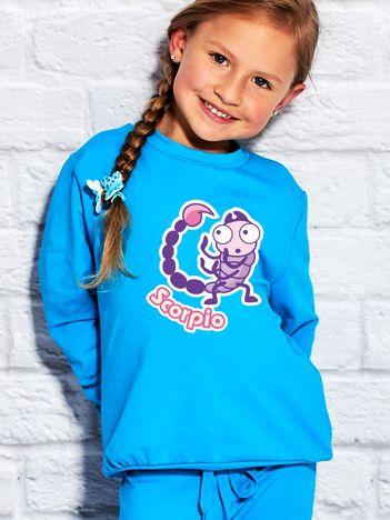 Turkusowa bluza dziecięca znak zodiaku SKORPION