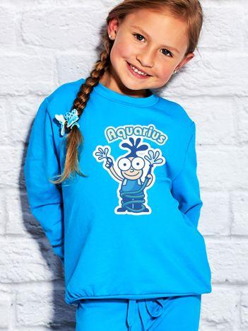 Turkusowa bluza dziecięca znak zodiaku WODNIK