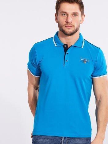 Turkusowa koszulka polo dla mężczyzny