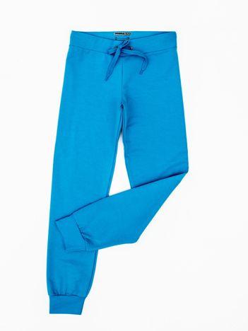 Turkusowe dresowe spodnie dziecięce