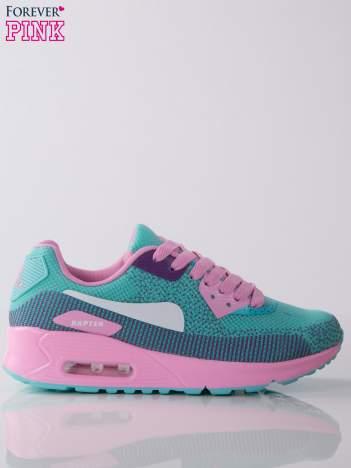 Turkusowo-różowe buty sportowe na poduszce powietrznej