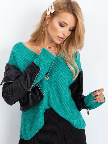 Turkusowy sweter Touch