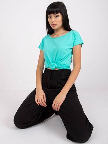 Turkusowy t-shirt basic