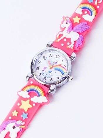UNICORN Malinowo-różowy Dziecięcy Zegarek JEDNOROŻEC