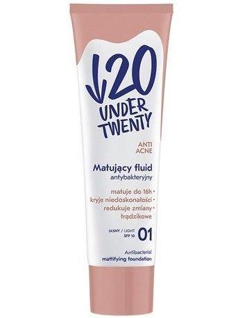 Under Twenty Matujący fluid antybakteryjny 01 jasny 30 ml