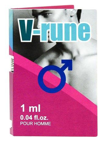 V-rune to preparat z feromonami o ekscytującym, męskim zapachu, stworzony w celu wywołania pożądania i erotycznego podniecenia u kobiet 1ml