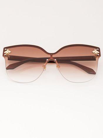 VICS Okulary przeciwsłoneczne damskie brązowe szkło brązowe dymione