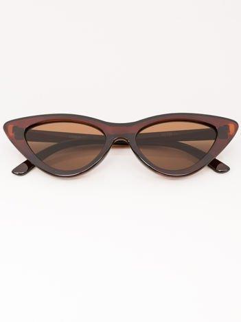 VIP LIFE Okulary przeciwsłoneczne damskie brązowe szkło brązowe