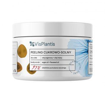 Vis Plantis Herbal Vital Care Peeling cukrowo-solny do ciała Olej Arganowy + Olej Lniany 200 ml