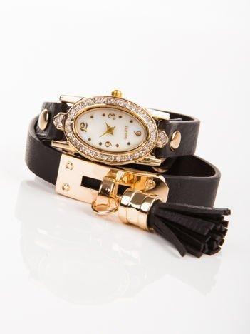 WRAP owijany wokół nadgarstka szary zegarek damski  z chwostem