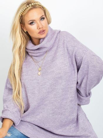 Wrzosowy sweter plus size Poline