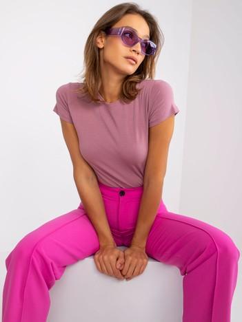 Wrzosowy t-shirt damski