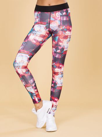Wzorzyste legginsy damskie