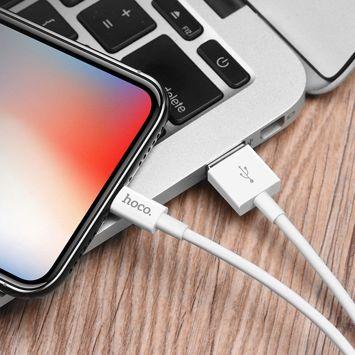 X23 Doskonały kabel do ładowania danych Lightning dla urządzeń z systemem Apple Długość 1 m w oplocie TPS złącza ABS Kolor biały