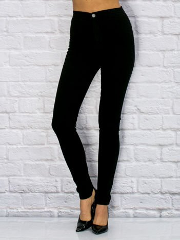 YUPS Czarne spodnie o kroju slim