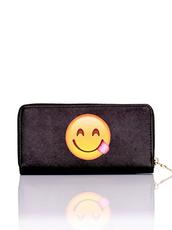 YUPS Czarny portfel z motywem emoji